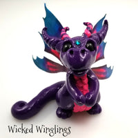 Mika - Hand Sculpted Polymer Clay Fairy Dragon