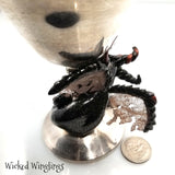 RESERVED FOR ELIZABETH J - Sadha - Hand Sculpted Polymer Clay Dragon on Chalice - Wicked Winglings