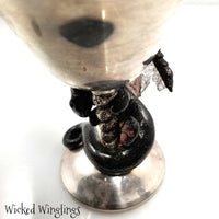Sadha - Hand Sculpted Polymer Clay Dragon on Chalice