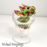 Virvel - Hand Sculpted Polymer Clay Sundae Dragon