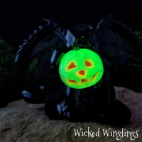 Hand Sculpted Polymer Clay Headless Dragon - Wicked Winglings
