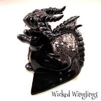Hand Sculpted Polymer Clay Dracula Dragon - Wicked Winglings