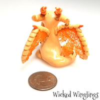Farren - Hand Sculpted Polymer Clay Dragon - Wicked Winglings