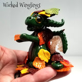 Caleen - Hand Sculpted Polymer Clay Dragon