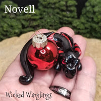 Novelle - Hand Sculpted Polymer Clay Dragon Ornament - Wicked Winglings