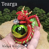 Tearga - Hand Sculpted Polymer Clay Dragon Ornament