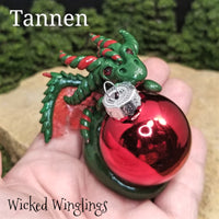 Tannen - Hand Sculpted Polymer Clay Dragon Ornament