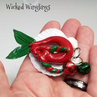 Merinia - Hand Sculpted Polymer Clay Sea Dragon Ornament - Wicked Winglings
