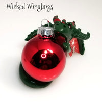 Tannen - Hand Sculpted Polymer Clay Dragon Ornament - Wicked Winglings