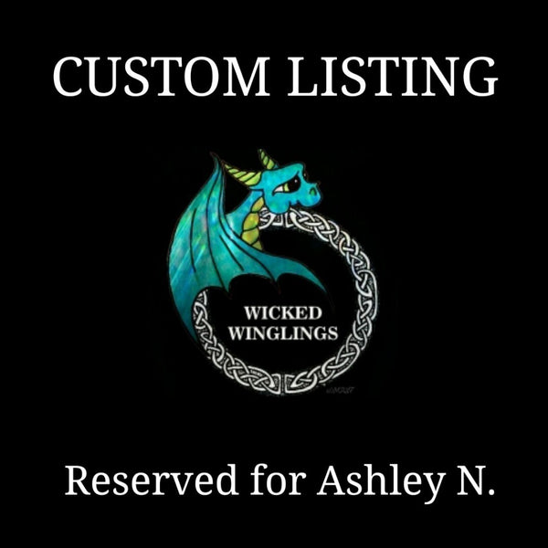 RESERVED for Ashley N. - Custom Hand Sculpted Polymer Clay Dragon Couple on Base with Flowers & Fruit - Wicked Winglings