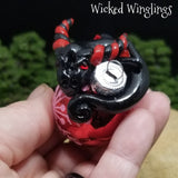 Venley - Hand Sculpted Mini Polymer Clay Dragon Ornament - Wicked Winglings