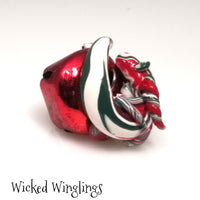 Fayton - Hand Sculpted Mini Polymer Clay Bell Dragon Ornament - Wicked Winglings
