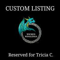 RESERVED FOR TRICIA C. -  Custom Hand Sculpted Polymer Clay Dragon with Red Truck - Wicked Winglings