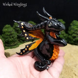 Sirior - Hand Sculpted Polymer Clay Fairy Dragon - Wicked Winglings
