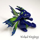 Laugrist - Hand Sculpted Polymer Clay Fairy Dragon - Wicked Winglings