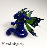 Laugrist - Hand Sculpted Polymer Clay Fairy Dragon