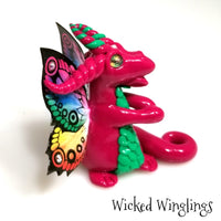 Gyszela - Hand Sculpted Polymer Clay Fairy Dragon - Wicked Winglings