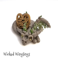 Zemer - Hand Sculpted Polymer Clay Dragon - Wicked Winglings