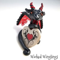 Karlek - Hand Sculpted Polymer Clay Dragon