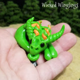Tiscat - Hand Sculpted Polymer Clay Dragon