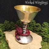 Arlo - Hand Sculpted Polymer Clay Dragon in Chalice - Wicked Winglings