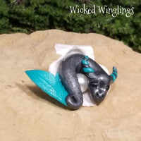 Dagort - Hand Sculpted Mini Polymer Clay Sea Dragon in Shell