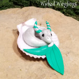 Wayleen - Hand Sculpted Mini Polymer Clay Sea Dragon - Wicked Winglings