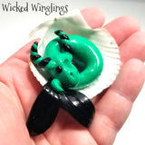 Xandigien - Hand Sculpted Mini Polymer Clay Sea Dragon - Wicked Winglings