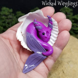 Nelfinvel - Hand Sculpted Mini Polymer Clay Sea Dragon - Wicked Winglings