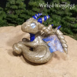 Ravor - Hand Sculpted Mini Polymer Clay Dragon - Wicked Winglings