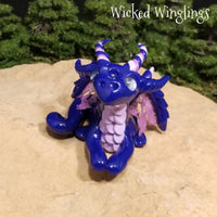 Mithen - Hand Sculpted Mini Polymer Clay Dragon - Wicked Winglings