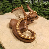 Lodyn - Hand Sculpted Polymer Clay Dragon - Wicked Winglings