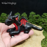 Older Style Hand Sculpted Polymer Clay Dragon 2007 - Wicked Winglings