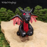 Older Style Hand Sculpted Polymer Clay Dragon 2011 - Wicked Winglings