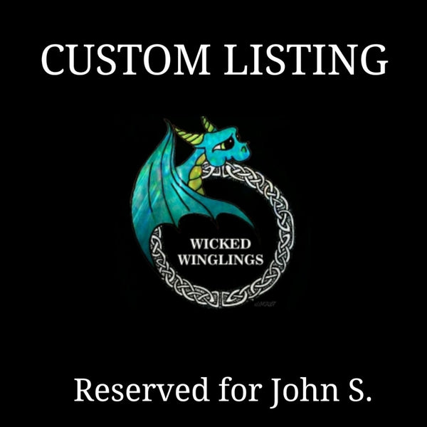 RESERVED for John S. - Custom Hand Sculpted Polymer Clay Reading Dragon - Wicked Winglings