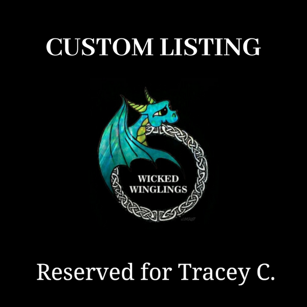 RESERVED for Tracey C. - Custom Hand Sculpted Polymer Clay Sugar Skull Dragon - Wicked Winglings
