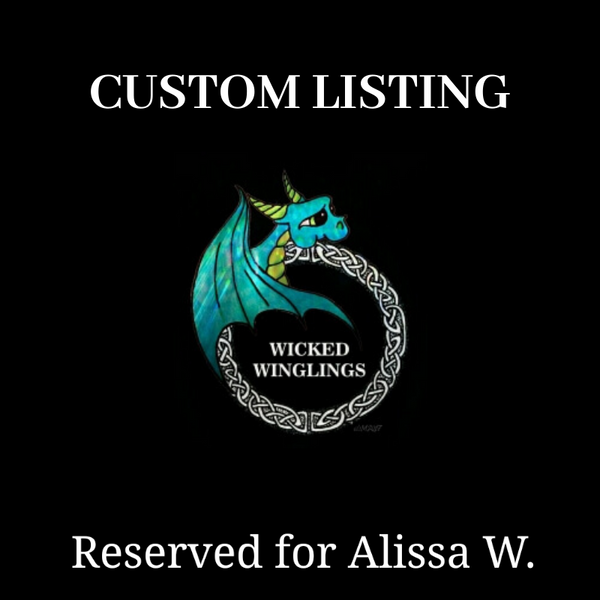 RESERVED for Alissa W. - DEPOSIT for Custom Hand Sculpted Polymer Clay Dragon - Wicked Winglings