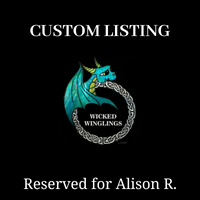 "RESERVED for Alison R. - Custom Hand Sculpted Polymer Clay ""Timmie"" Elder Dragon #1 - Wicked Winglings"