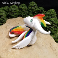 Tecza - Hand Sculpted Polymer Clay Sea Dragon - Wicked Winglings