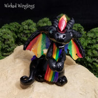 Vikerkaar - Hand Sculpted Polymer Clay Dragon