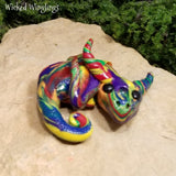 Vistoso - Hand Sculpted Polymer Clay Dragon