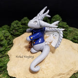 Custom Hand Sculpted Polymer Clay Sailor Dragon - Wicked Winglings