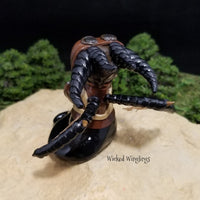 Custom Hand Sculpted Polymer Clay Pilot Dragon - Wicked Winglings