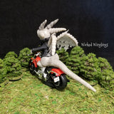 Custom Hand Sculpted Polymer Clay Motorcycle Dragon - Wicked Winglings