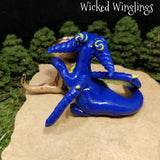 Aravin - Hand Sculpted Polymer Clay Dragon with Puppy - Wicked Winglings