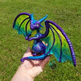 Custom Hand Sculpted Polymer Clay Elder Dragon - Wicked Winglings