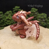 Calainn - Hand Sculpted Polymer Clay Dragon - Wicked Winglings