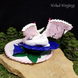 Custom Hand Sculpted Polymer Clay Memorial Dragon - Wicked Winglings