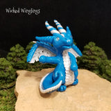 Custom Hand Sculpted Polymer Clay Dragon Pen Holder - Wicked Winglings