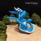 Custom Hand Sculpted Polymer Clay Dragon Pen Holder